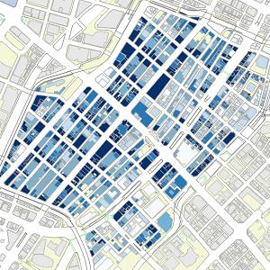 東京都中央区銀座地域の立地分類に関する分析例